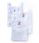 Original Cotton White A-Shirts - 3 Pack
