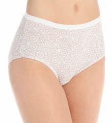 Hanes 100% Cotton Brief Panty - 4 Pack 40KUB1