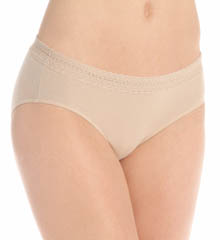 Hanes Cotton Stretch Waistband Hipster Lace Panty 3 Pack 41KLB5