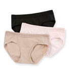 Cotton Stretch Waistband Hipster Lace Panty 3 Pack Image