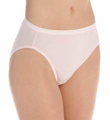 Hanes 100% Hi-Cut Panty - 4 Pack 43KUB1