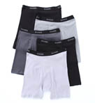Stretch Black and Grey Boxer Briefs - 5 Pack