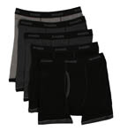 Premium Cotton Ringer Boxer Briefs - 5 Pack