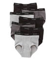 Black/Grey Full Rise Briefs - 7 Pack Image
