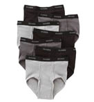 Black/Grey Full Rise Briefs - 7 Pack