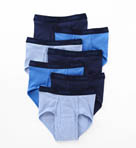 Assorted Blue Full Rise Briefs - 7 Pack