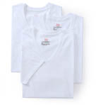 Original Cotton White V-Neck T-Shirts - 3 Pack