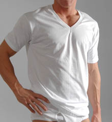 Big Mens V-neck T-shirt 3 Pack