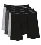Stretch Black and Grey Boxer Briefs - 4 Pack