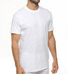 Premium Cotton White Crew Neck T-Shirts - 3 Pack