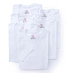 Premium Cotton White V-Neck T-Shirts - 6 Pack
