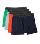 Slim Fit Assorted Dyed Boxer Briefs - 4 Pack