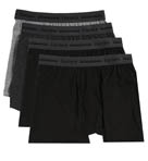 Black and Grey Slim Fit Boxer Briefs - 4 Pack