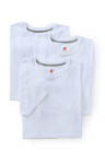 Hanes Slim Fit White Crewneck T-Shirt 3 Pack CST1W3