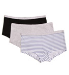 Hanes ComfortSoft Cotton Stretch Boyshort 3-Pack Panties ET49