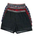 Boys Plaid Boxers - 3 Pack