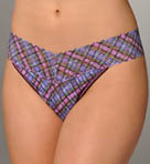 Pink Plaid Original Rise Thong