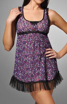 Anna Sui Lace Trim Floral Chemise