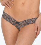 After Midnight Leopard Crotchless Low Rise Thong