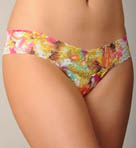 Autumn Floral Lace Low Rise Thong