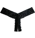 After Midnight Lace Crotchless Low Rise Thong