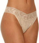 Metallic Signature Lace Original Rise Thong