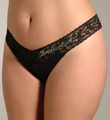 "Hanky Panky ""Bridesmaid"" Original Rise Plus Size Thong 481131X"