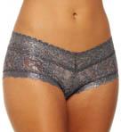 Shimmer Lace V-Front Boyshort Panty