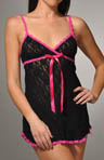 Lace Babydoll w/contrast trim and G-String