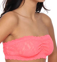 Signature Lace Ruched Bandeau Bra