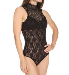 Hanky Panky Signature Lace Bodysuit with Venise Hi Neck 488534