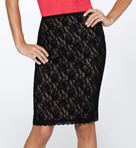 "Hanky Panky Signature Lace 23"" Lined Pencil Skirt 48S231"