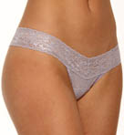 Metallic Signature Lace Low Rise Thong