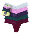 Hanky Panky 5 Pack Low Rise Signature Lace Thongs 4911F