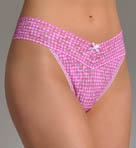 Gingham Original Rise Thong