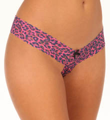 Hanky Panky Wild Cat Strikes Again Crotchless Low Rise Thong 7J1001