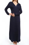 "Hanky Panky Supima Cotton Interlock 54"" Long Sleeve Gown 83G541"