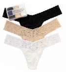 Organic Cotton Low Rise Thong - 3 Pack Image