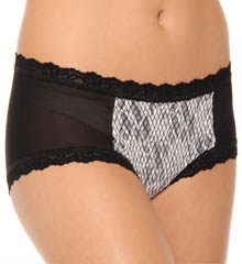 Fishnet Ruched Mesh And Lace Boyshort Panty