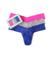 Sparkle Box Signature Lace Low Rise Thong - 3 Pack Image