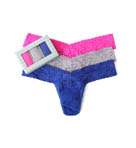 Hanky Panky Sparkle Box Signature Lace Low Rise Thong - 3 Pack 9HOUND3