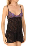 Hanky Panky Embroidered Tulle Babydoll With G-String 9S6814