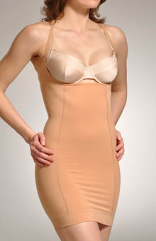Hanro Natural Shape Open Bust Bodydress Shaper 1952