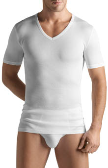 Cotton Pure V-Neck T Shirt