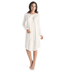 Hanro Bronx Long Sleeve Button Down Gown 77573