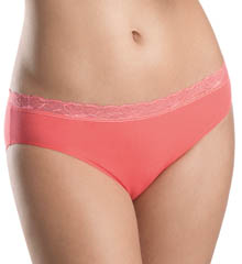Hanro Romance Lace Trim Hi-Cut Brief Panty 9580