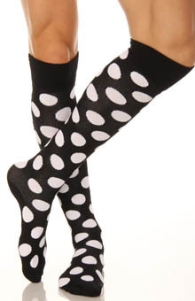 Knee High Dots Socks