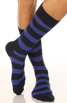 2 Pack Stripe and Block Sock