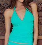 Sloane Halter Tankini Swim Top Image