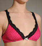 Swiss Dot Triangle Bralette Bra